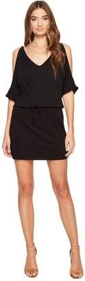 Lanston Cold Shoulder V-Neck Dress Women's Dress