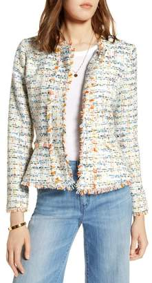 Halogen Tweed Peplum Jacket