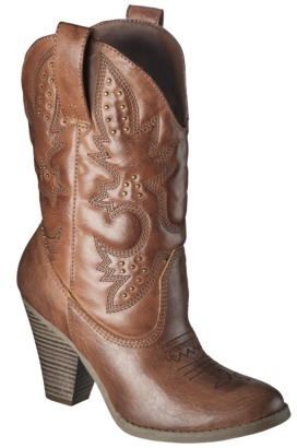 Mossimo Women's Kala Heeled Western Boot with Studs