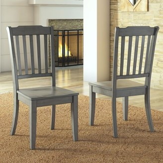 Weston Home Farmhouse Dining Chair with Spindle Back, Set of 2, Multiple Finishes