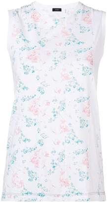 Joseph printed panel sleeveless T-shirt