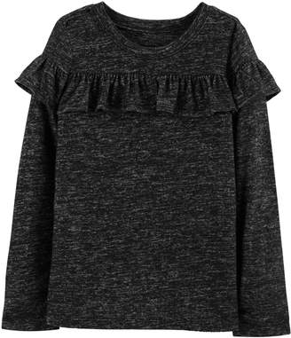 Osh Kosh Oshkosh Bgosh Girls 4-14 Ruffled Space-Dye Top