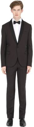 Stretch Polka Dot Jacquard Tuxedo Suit $441 thestylecure.com