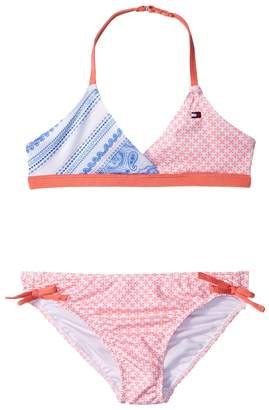 Tommy Hilfiger Pattern Mix Two-Piece Swimsuit Girl's Swimwear Sets