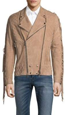 Pierre Balmain Fringed Leather Jacket