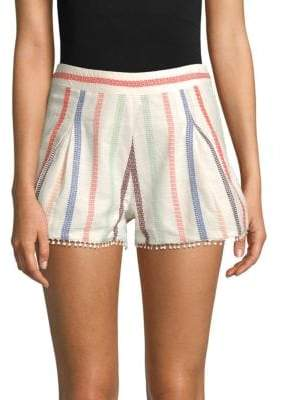Red Carter Romy Embroidered Shorts