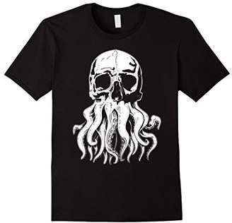 Cthulhu Human Hybrid Skull T-Shirt
