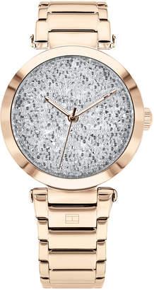 Tommy Hilfiger Women Carnation Gold-Tone Stainless Steel Bracelet Watch 32mm