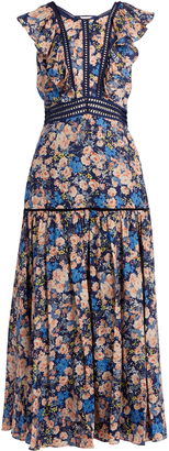 REBECCA TAYLOR Gigi floral-print ruffle-trimmed cotton dress $551 thestylecure.com