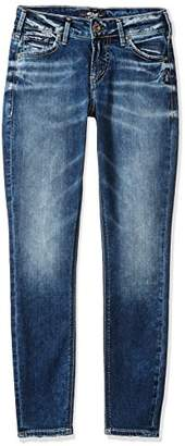 Silver Jeans Women's Co Aiko Mid Rise Ankle Skinny