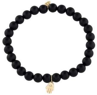 Sydney Evan 14K Onyx Hamsa Bead Bracelet