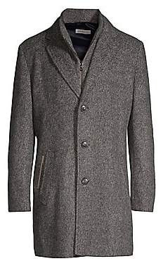 Bugatti Men's Knit Wool Coat