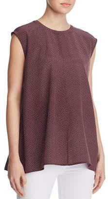 Eileen Fisher Cap Sleeve Silk Tunic