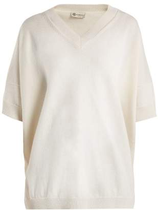 Connolly - V Neck Cashmere And Linen Blend Sweater - Womens - White