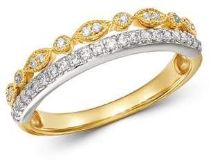 Bloomingdale's Diamond Two-Tier Band Ring in 14K White Gold & 14K Yellow Gold, 0.25 ct. t.w. - 100% Exclusive