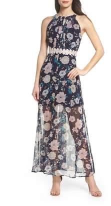 Foxiedox Brylee Floral Print Maxi Dress