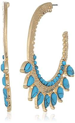 Danielle Nicole Golden Burst Coral Hoop Earrings
