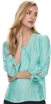 Apt. 9 Women's Knot Sleeve Blouse