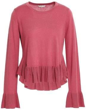 Joie Iona Wool And Silk-blend Peplum Sweater