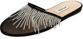 ATTICO The Gina Mesh Embellished Flats
