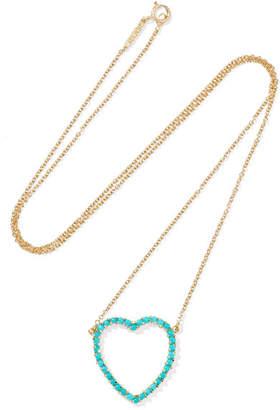 18-karat Gold, Turquoise And Diamond Necklace - one size Jennifer Meyer