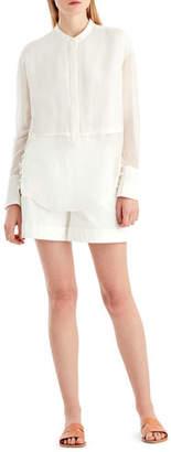 Jason Wu GREY Silk Voile Button-Front Blouse