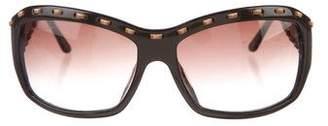 Salvatore Ferragamo Whipstitch Gradient Sunglasses