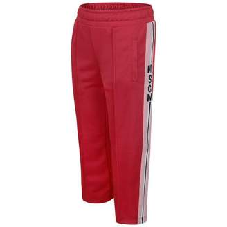 MSGM MSGMGirls Red Technical Jersey Trousers
