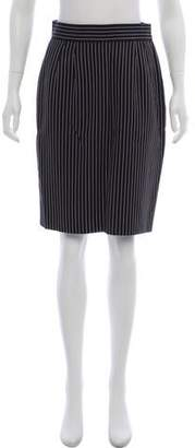 Carolyne Roehm Pinstripe Pencil Skirt