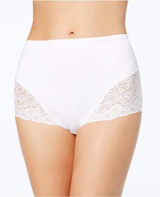 Bali Women's Firm Tummy-Control Lace Trim Microfiber Brief 2 Pack X054