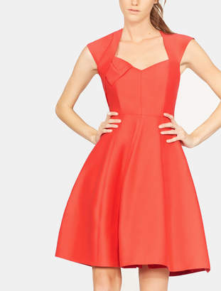 Halston Bow Drape Structure Dress
