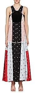 Valentino WOMEN'S FLORAL VELVET & SILK MAXI DRESS SIZE 4