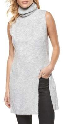 Dex Front Slit Sleeveless Sweater