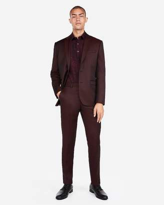 Express Slim Burgundy Luxury 100% Wool Suit Pant