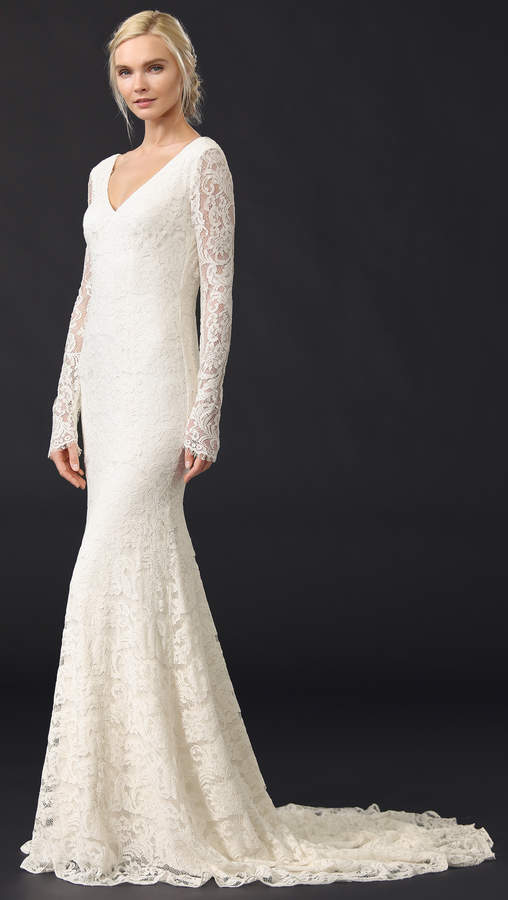 Theia Nicole Lace Gown 5