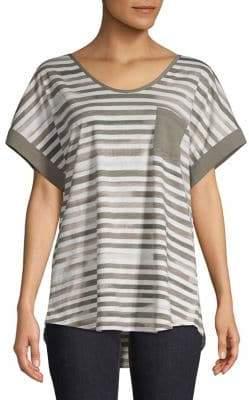 Jones New York Striped Short-Sleeve Tee