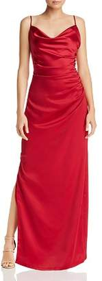 Laundry by Shelli Segal Draped Satin Gown