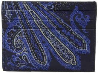 Etro Paisley Card Holder Wallet
