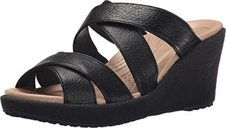 crocs Women's A Leigh Crisscross W Wedge Sandal $28 thestylecure.com