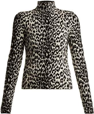 Givenchy Animal-intarsia wool-blend top