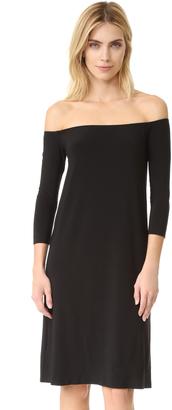 Norma Kamali Kamali Kulture Off Shoulder Dress $150 thestylecure.com