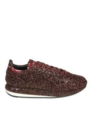 Ghoud Sneakers In Glitter Color Bordeaux