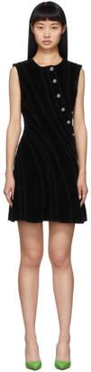 Thierry Mugler Black Spiral Dress