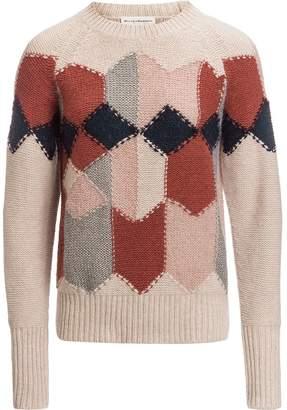 White + Warren Diamond Intarsia Crew Sweater - Women's