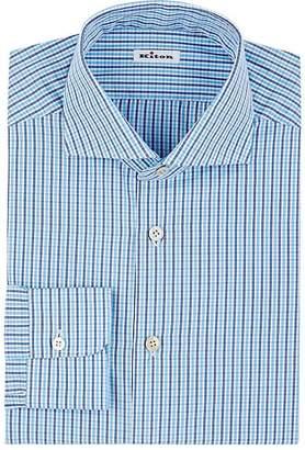Kiton Men's Checked Cotton Dress Shirt