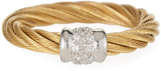 Alor Classique Diamond Cable Ring Golden