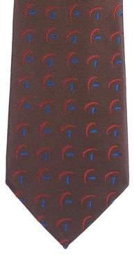 Charvet Silk Geometric Jacquard Tie
