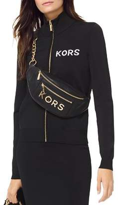 MICHAEL Michael Kors MICHAEL Embroidered Stretch Track Jacket
