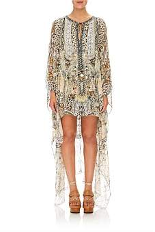 Camilla Moto Maiko Long Sheer Overlay Dress