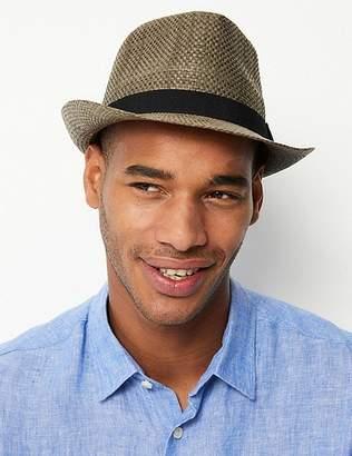 Marks and Spencer Hopsack Trilby Hat